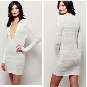 Free People Henley Sweater Dress